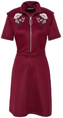 Markus Lupfer Zoey Embroidered Scuba Mini Dress