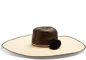 SOPHIE ANDERSON Corozon pompom-embellished raffia hat