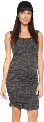 Ingrid & Isabel Marble Shirred Maternity Tank Dress $88 thestylecure.com
