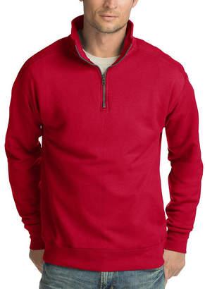 Hanes Long Sleeve Fleece Quarter Zip Pullover