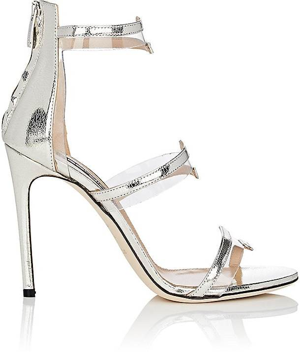 Sergio Rossi Women's Metallic Leather & PVC Multi-Strap Sandals