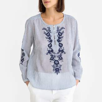 Harris Wilson Cecilia Embroidered Blouse