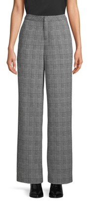 Scoop Wide-Leg Trouser Plaid Women's