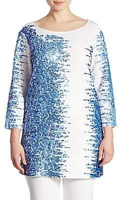 Joan Vass Women's Sequin Tunic