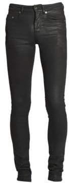 Saint Laurent Skinny-Fit Waxed Jeans