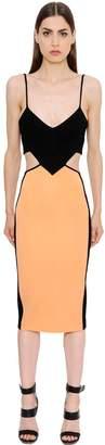 David Koma Cutout Stretch Jersey Pencil Dress