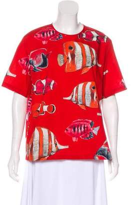 Dolce & Gabbana 2018 Fish Print Top w/ Tags
