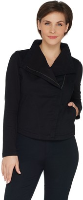 Laurie Felt Twill Military Asymmetric Zip Jacket