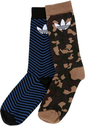 Logo & Camo Thin Crew Socks $18 thestylecure.com