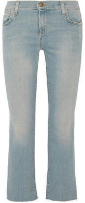 Current/Elliott The Kick Cropped Mid-rise Flared Jeans - Blue