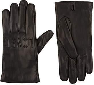 "Gucci Men's Loved"" Leather Gloves"