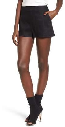 Leith High Waist Linen Blend Shorts