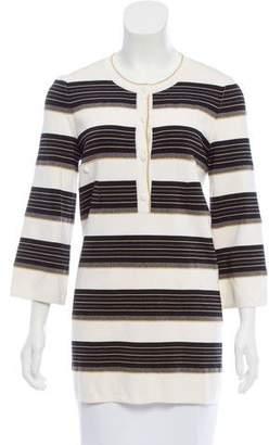 Chanel Striped Silk Sweater