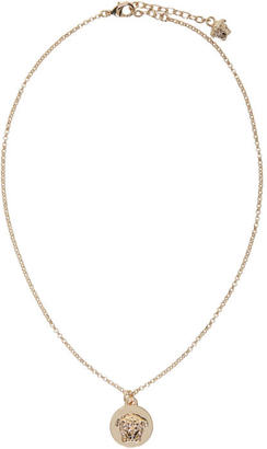 Versace Gold Round Medusa Necklace