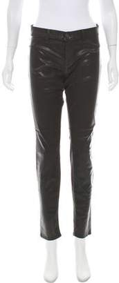 J Brand Mid-Rise Coated Pants w/ Tags
