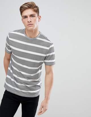 New Look Stripe T-Shirt In Black