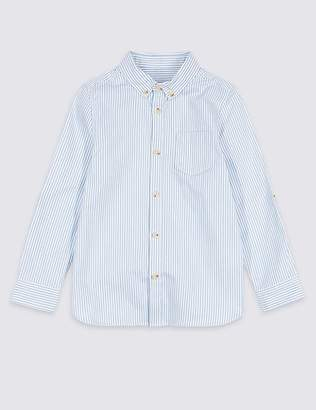 Marks and Spencer Pure Cotton Striped Oxford Shirt (3 Months - 7 Years)