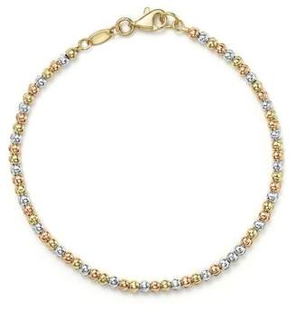 Bloomingdale's 14K Yellow, White and Rose Gold Beaded Bracelet - 100% Exclusive