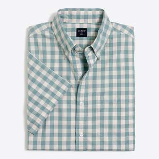 J.Crew Factory Slim-fit Short-sleeve washed shirt