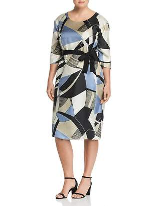 Marina Rinaldi Definire Abstract Print Silk Dress