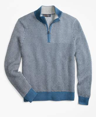 Brooks Brothers Jacquard Half-Zip Sweater