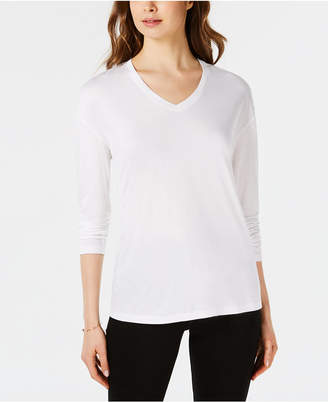 Maison Jules Dropped Shoulder V-Neck Jersey Top