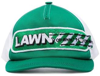 Off-White green lawn girl cotton baseball cap