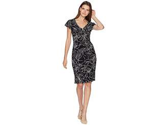 Lauren Ralph Lauren Samson Floral Cap Sleeve Day Dress