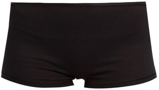 Hanro - Seamless Cotton Boy Short Briefs - Womens - Black