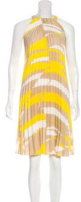 Max Mara Danzica Pleated Printed Dress