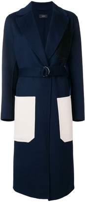 Joseph long contrast pocket coat