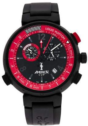 4ab2cb418395 Pre-Owned at TheRealReal · Louis Vuitton Tambour America s Cup Watch