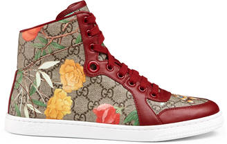 Women's Gucci Tian high-top sneaker $690 thestylecure.com