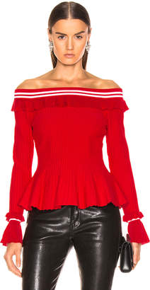 Jonathan Simkhai for FWRD Off the Shoulder Ruffle Top
