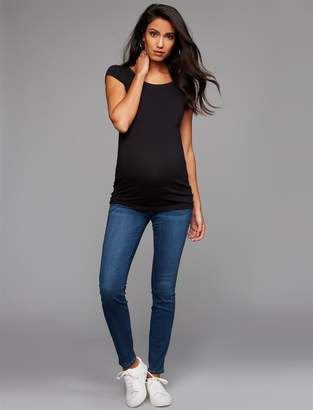 Pea Collection Good American Side Panel Honeymoon Ankle Maternity Jeans