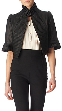 Temperley London Cropped leather jacket