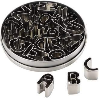 Cake Boss 26 Piece Stainless Steel Alphabet Fondant & Cookie Cutter Set