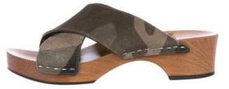 Saint Laurent Crossover Slide Sandals