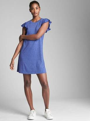 Gap Softspun Flutter Sleeve Swing Dress