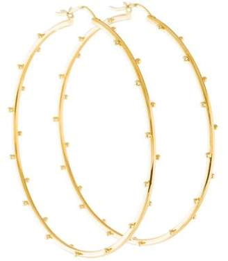Elizabeth Showers 18K Ball Hoop Earrings