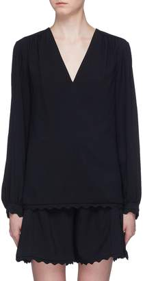 Chloé Scalloped hem blouse