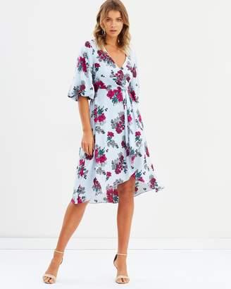 Atmos & Here ICONIC EXCLUSIVE - Perla Wrap Midi Dress