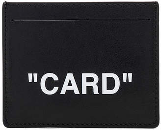 Off-White Off White Quote Cardholder
