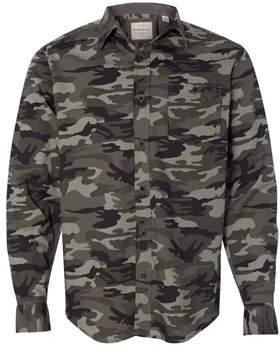 Weatherproof Vintage Camo Long Sleeve Shirt 154622 L