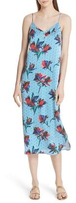 Equipment Dian Print Silk Slipdress