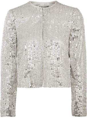 Alice + Olivia Kidman Sequined Crepe Jacket - Silver