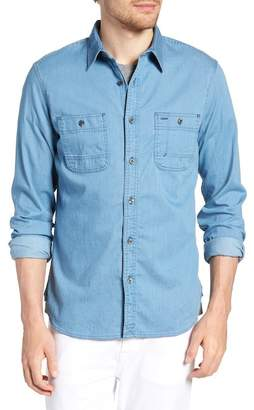 1901 Workwear Trim Fit Stretch Denim Sport Shirt