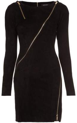 Jitrois longsleeved allover zipper dress