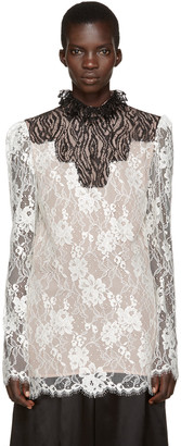 Lanvin Ivory Lace Stand Collar Blouse $2,820 thestylecure.com