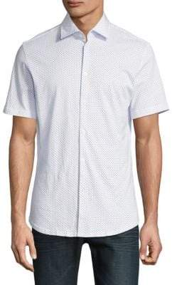 Stone Rose Polka-Dot Short Sleeve Shirt